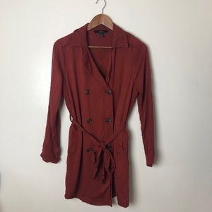 Forever 21 Light Pea Coat Wrap Jacket Large